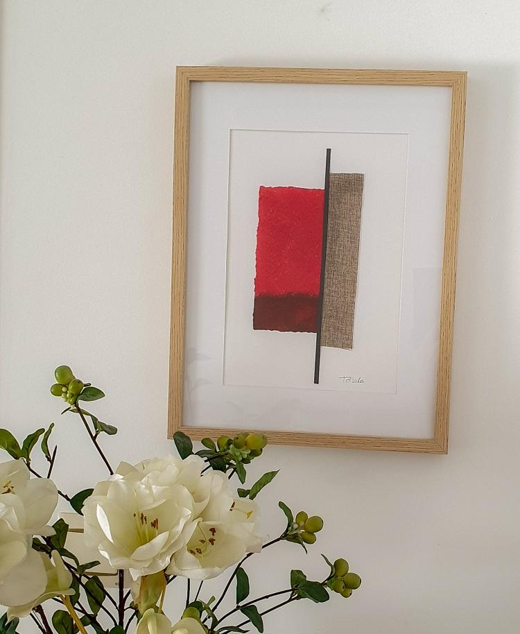 """cuadro de arte abstracto titulado """"Warming place"""", de la artista Tatuska"""