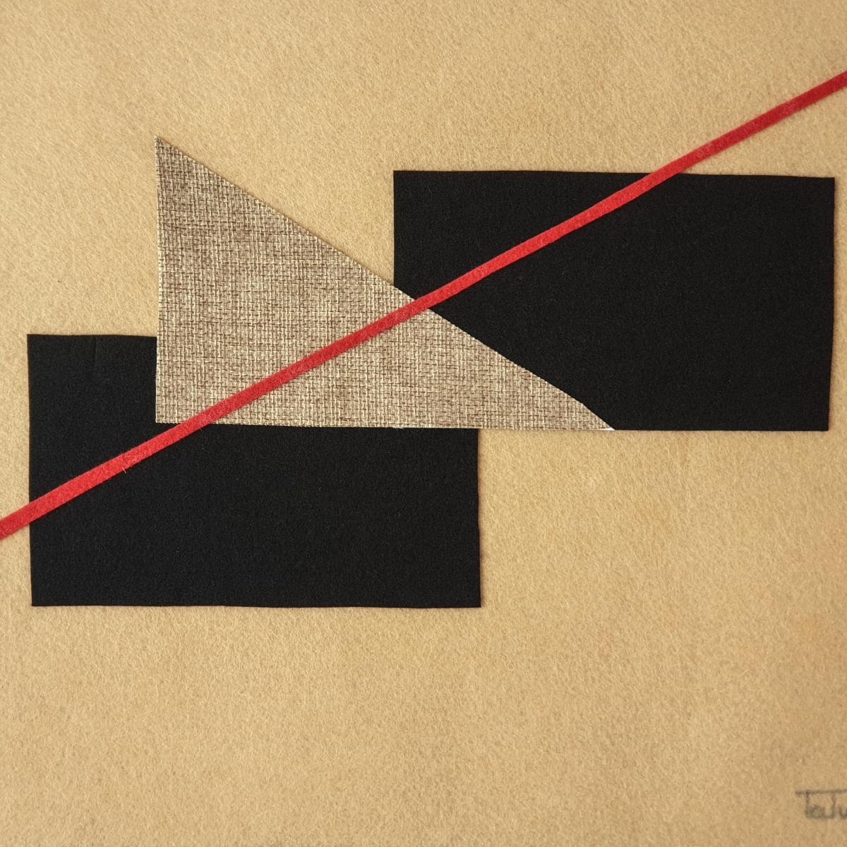 """Detalle del interior de la obra de arte abstracto titulada """"Connecting"""", por Tatuska"""