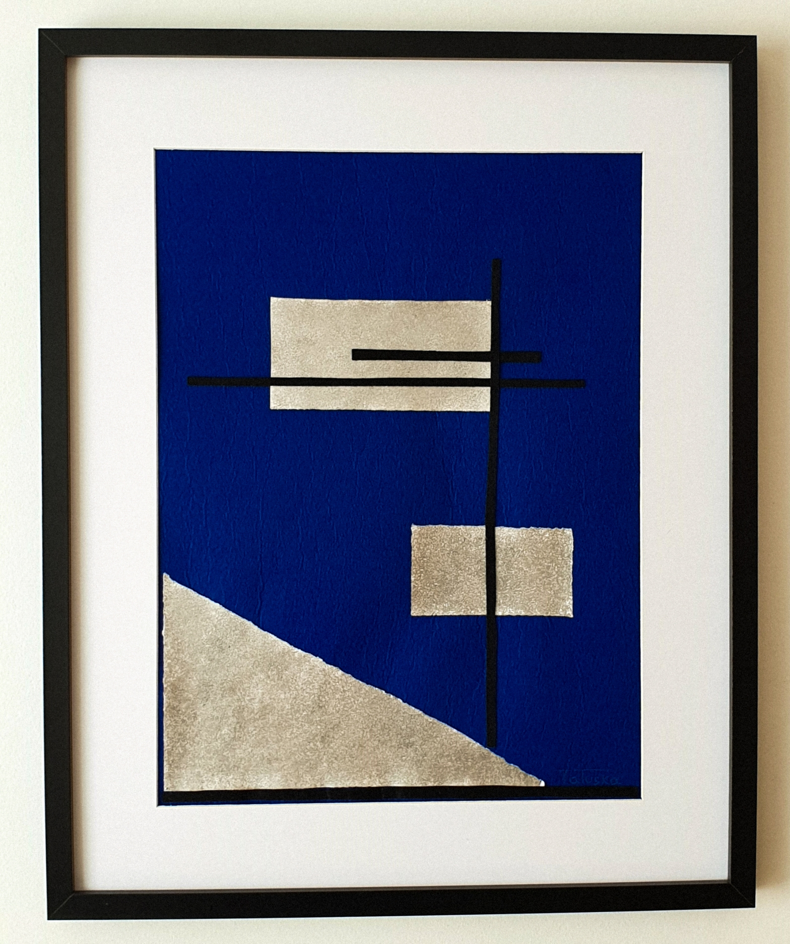 "Cuadro de arte abstracto titulado ""Riding Horse"" de la artista Tatuska (https://artuska.com)."