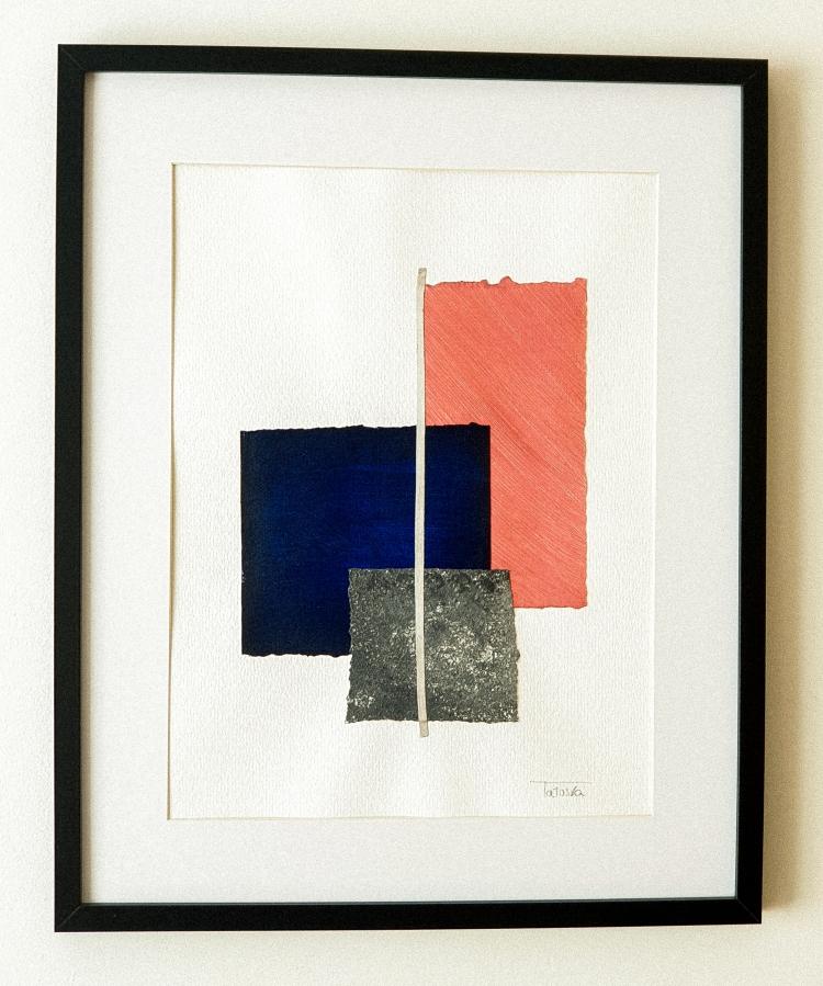 "Cuadro de arte abstracto titulado ""Salmon"" de la artista Tatuska (https://artuska.com)"