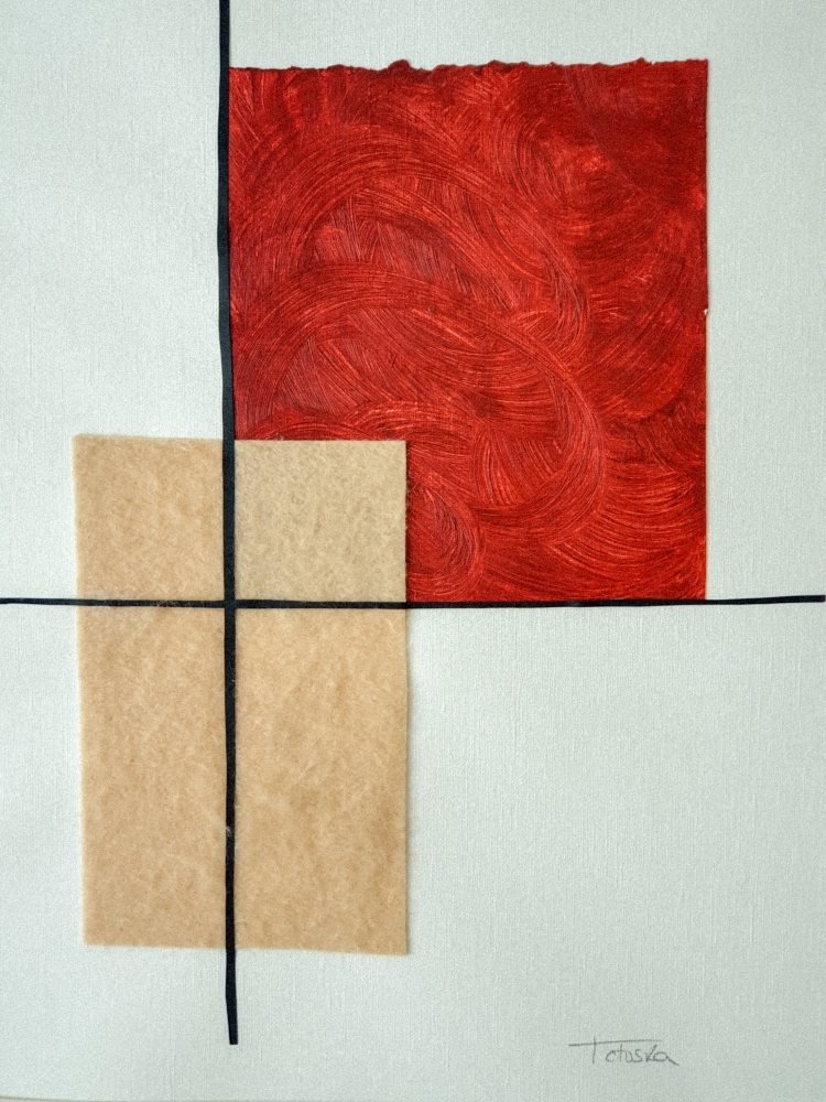"cuadro de arte abstracto titulado ""Prosperity"", de la artista Tatuska"