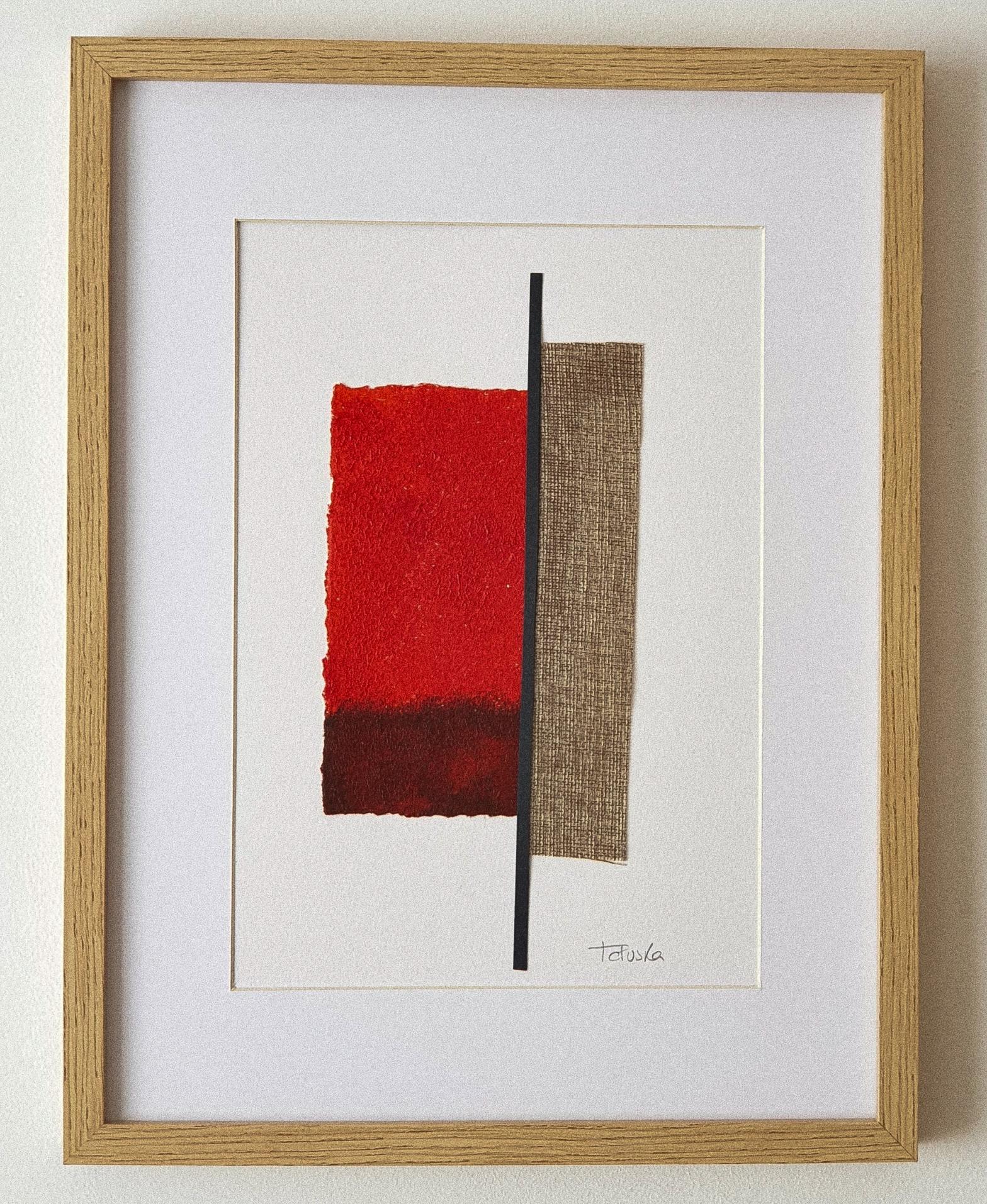 "Cuadro de arte abstracto titulado ""Warming place"" de la artista Tatuska (https://artuska.com)"