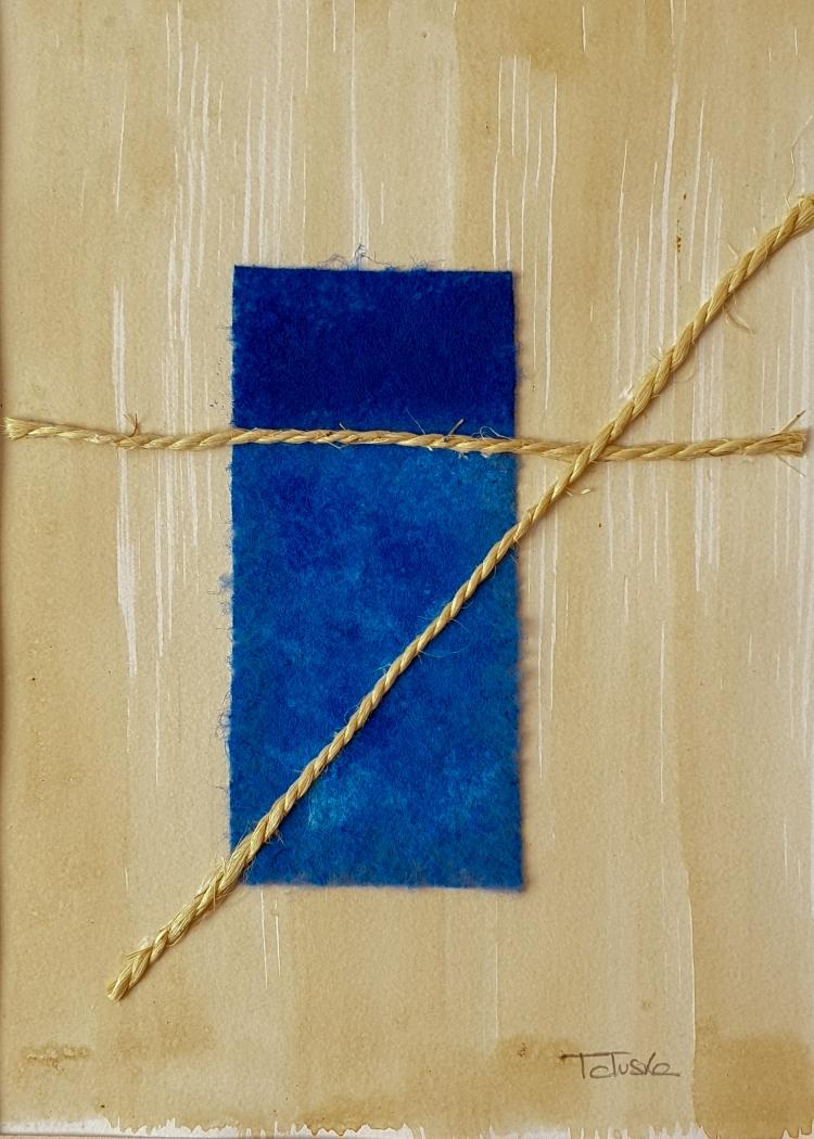 """cuadro de arte abstracto titulado """"Boat in the sea"""", de la artista Tatuska"""