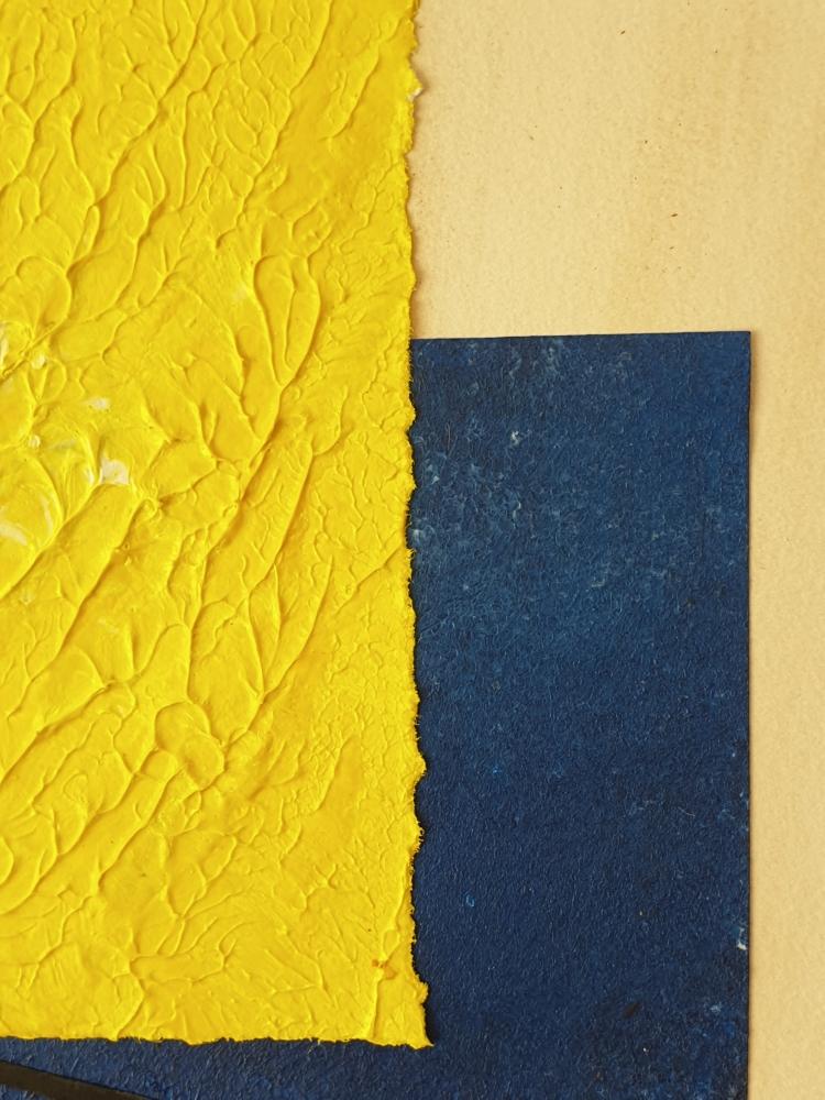 """cuadro de arte abstracto titulado """"The sun and the sea"""", de la artista Tatuska"""