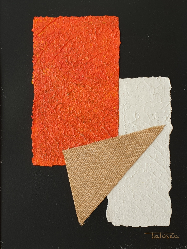 "cuadro de arte abstracto titulado ""Paranoid"", de la artista Tatuska"