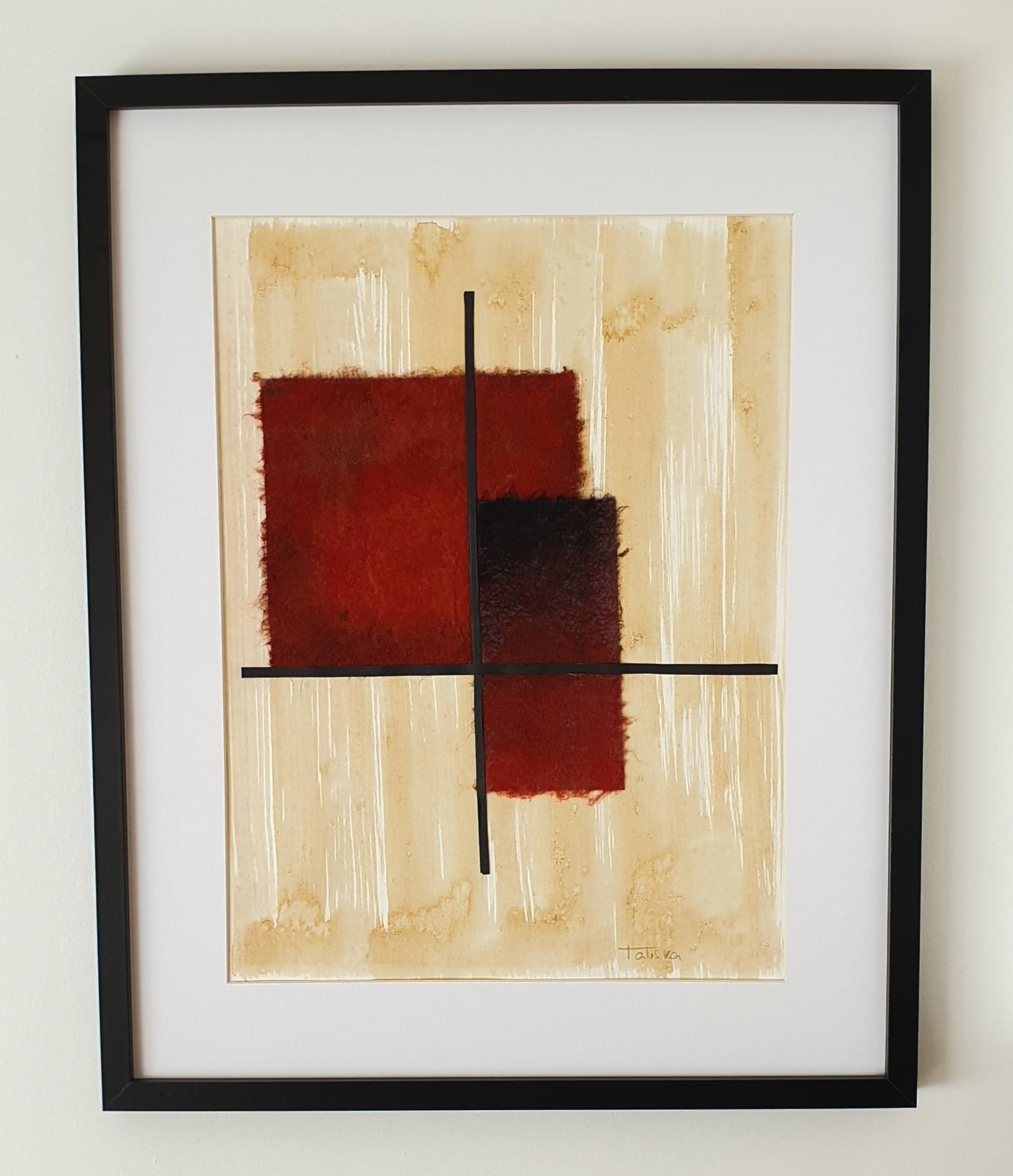 "Cuadro de arte abstracto titulado ""Burning couple"" de la artista Tatuska (https://artuska.com)"