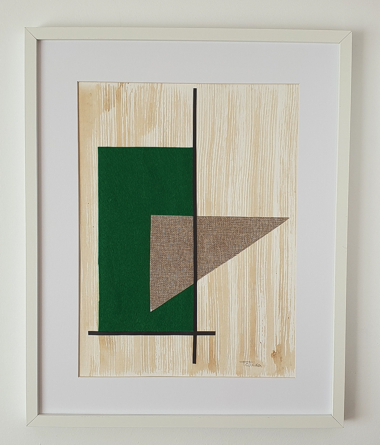 "Cuadro de arte abstracto titulado ""Geometry"" de la artista Tatuska (https://artuska.com)"