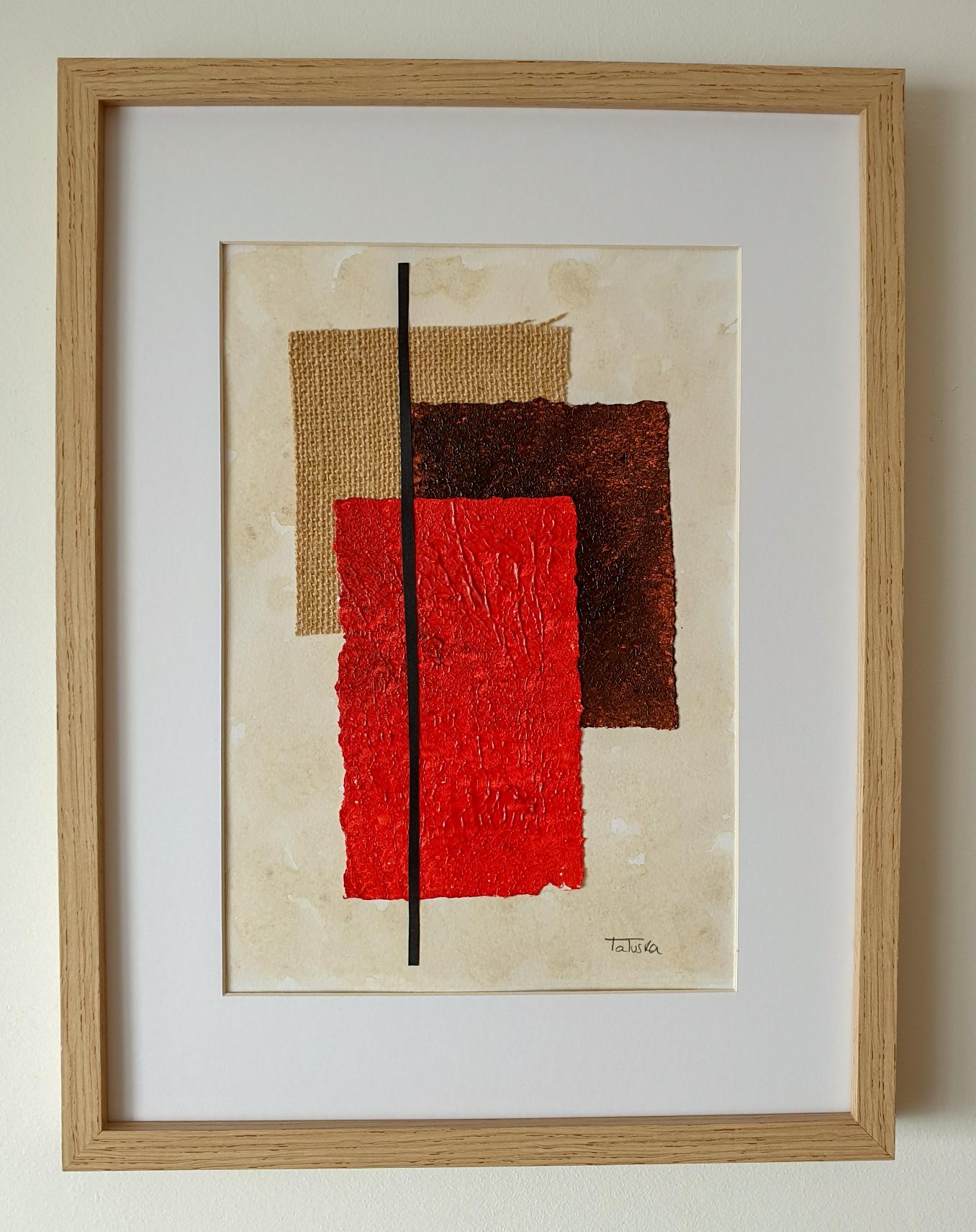 "Cuadro de arte abstracto titulado ""A little bit of chaos"" de la artista Tatuska (https://artuska.com)"