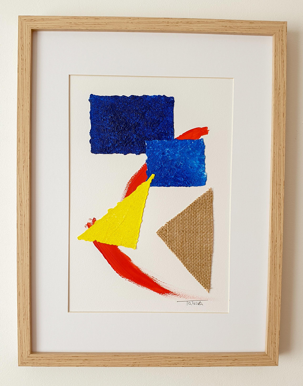 "Cuadro de arte abstracto titulado ""Fusion"" de la artista Tatuska (https://artuska.com)"