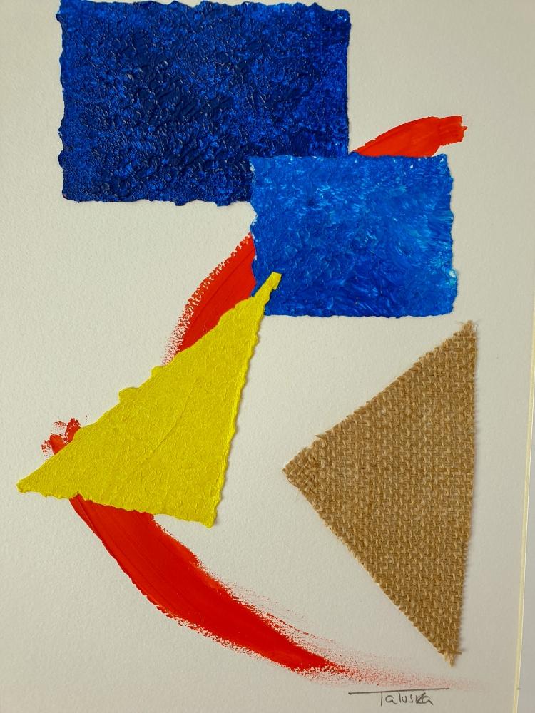 "cuadro de arte abstracto titulado ""Fusion"", de la artista Tatuska"