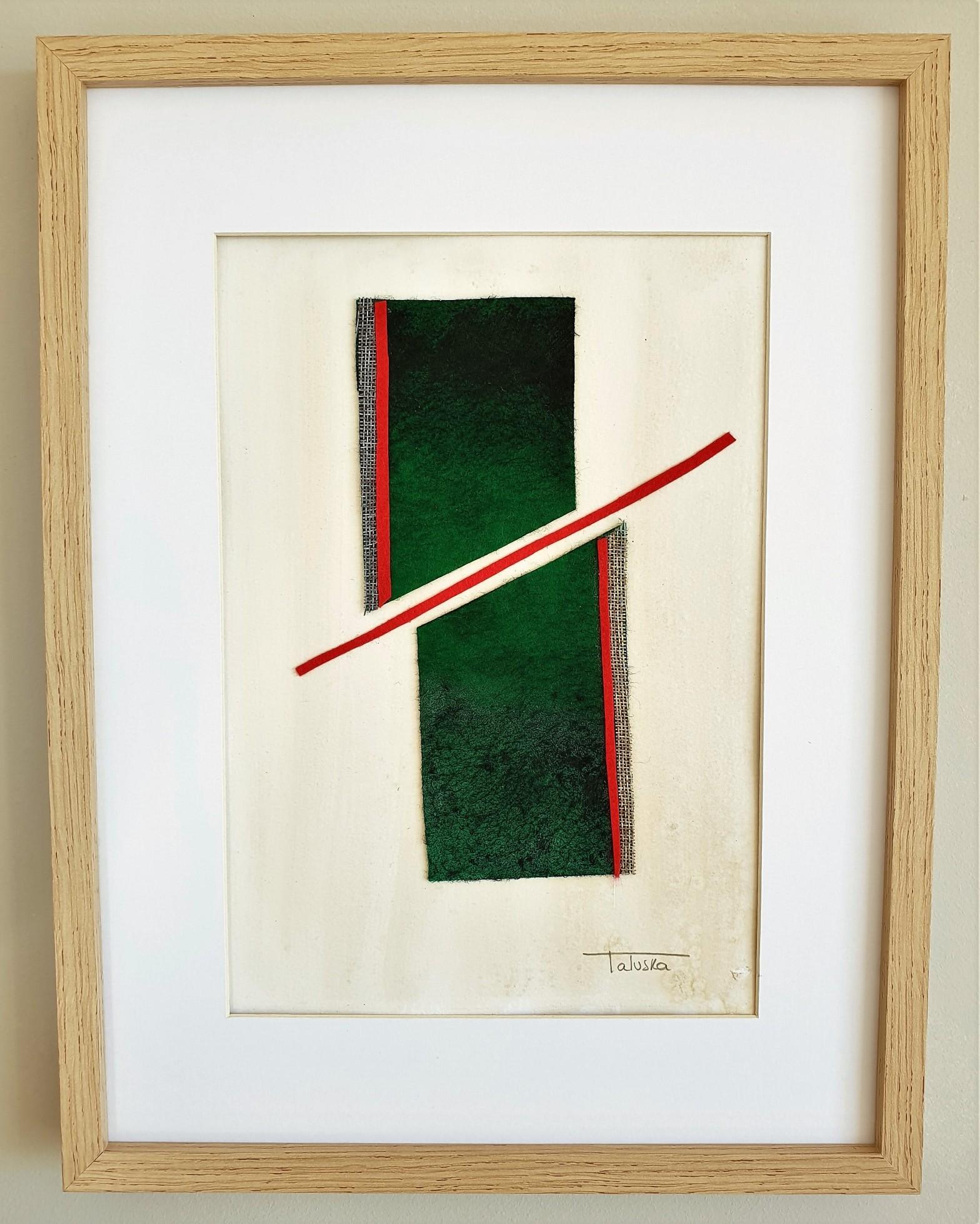 """Cuadro de arte abstracto titulado """"Ancient"""" de la artista Tatuska"""