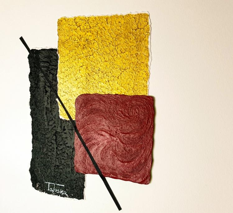 """cuadro de arte abstracto titulado """"Classy"""", de la artista Tatuska"""