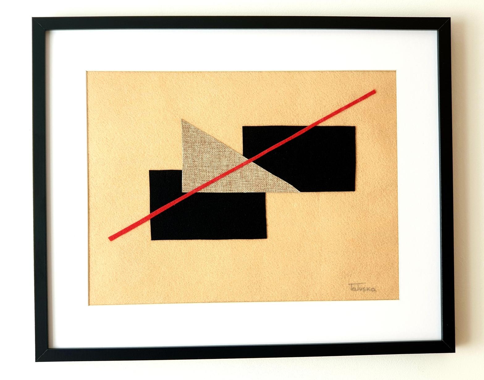 "Cuadro de arte abstracto titulado ""Connecting"" de la artista Tatuska (https://artuska.com)."