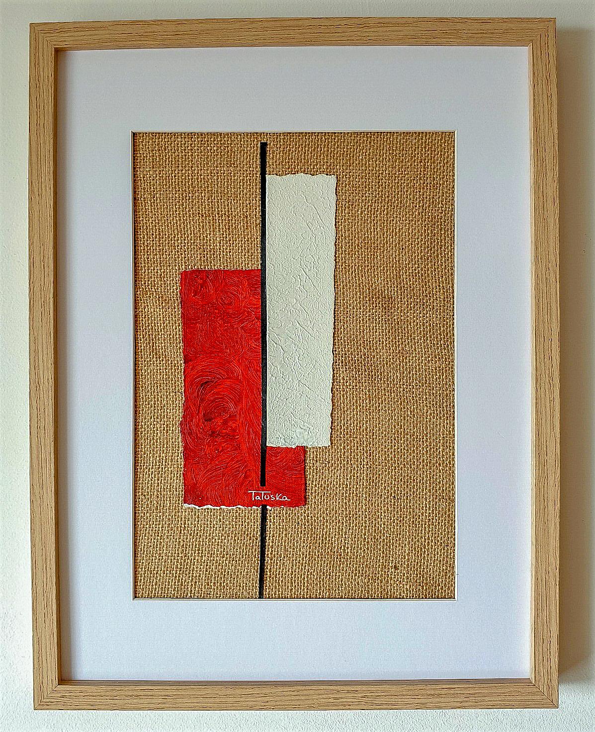 "Cuadro de arte abstracto titulado ""Contrast"" de la artista Tatuska (https://artuska.com)"