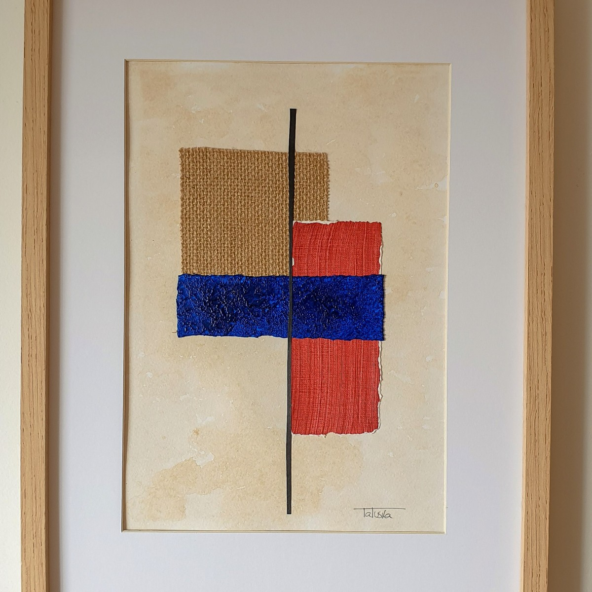 "Cuadro de arte abstracto titulado ""Metamorphosis"" de la artista Tatuska (https://artuska.com)"