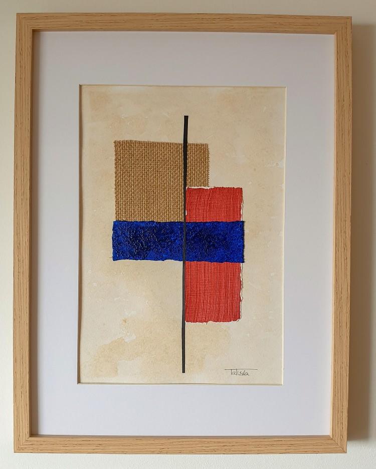 "Cuadro de arte abstracto moderno decorativo con texturas original contemporáneo para sala, salón, dormitorio, comedor 30x40 cm.  titulado ""Metamorphosis"" de la artista Tatuska"
