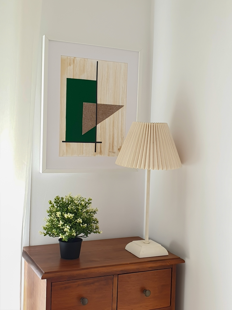 "cuadro de arte abstracto titulado ""Geometry"", de la artista Tatuska"