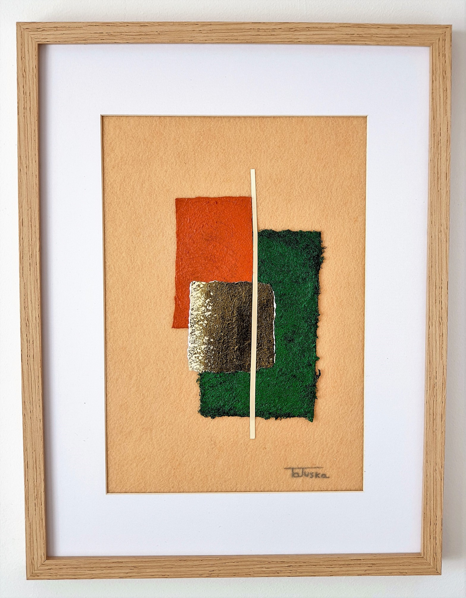 "Cuadro de arte abstracto titulado ""Soft"" de la artista Tatuska"