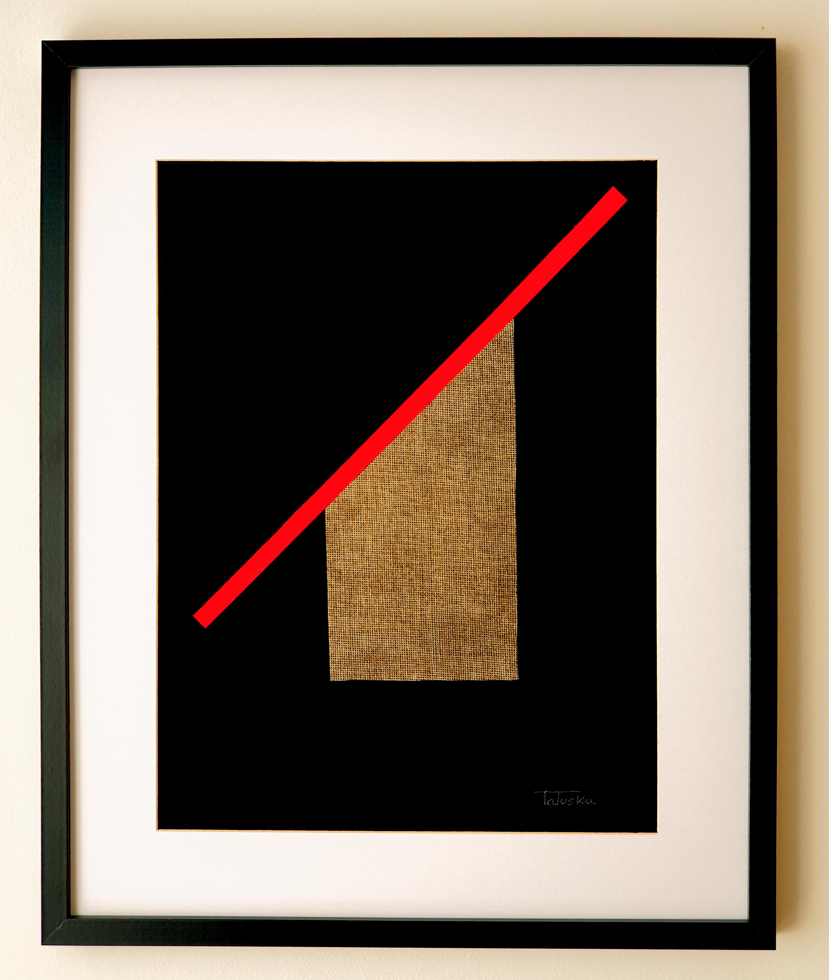 "Cuadro de arte abstracto moderno decorativo con texturas para sala, salón, dormitorio, comedor 40x50 cm. titulado ""Woman in hat"" de la artista Tatuska"