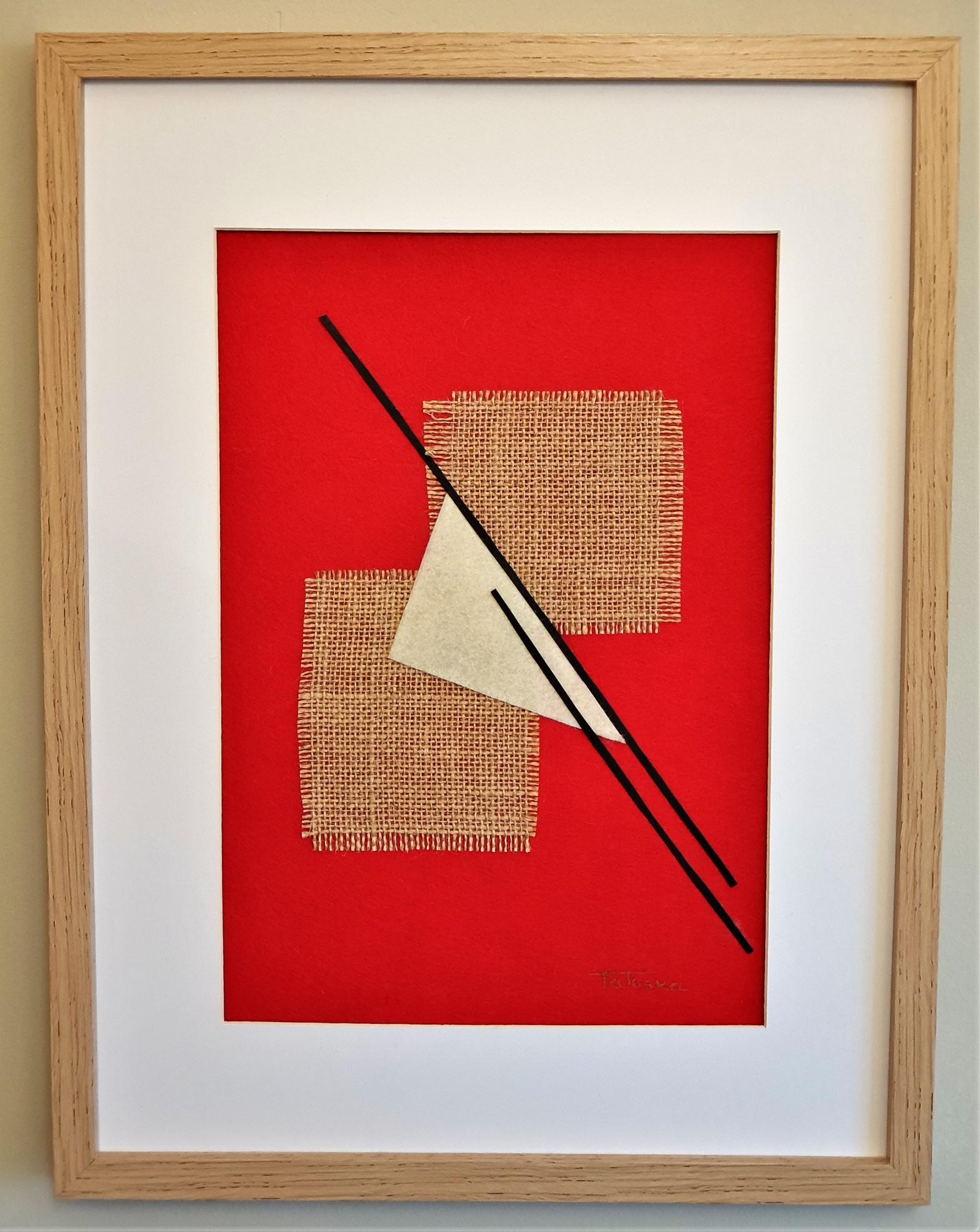 """Cuadro de arte abstracto titulado """"Almost Christmas"""" de la artista de arte abstracto contemporáneo Tatuska"""