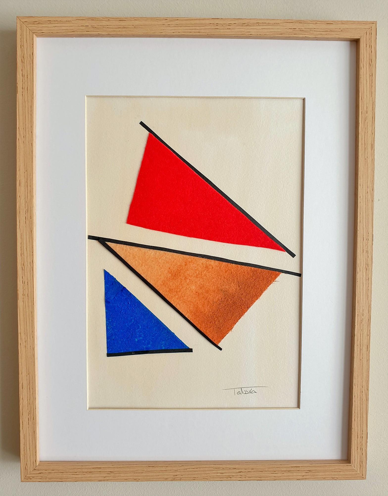 """Cuadro original de arte abstracto titulado """"Distortion"""", obra de la artista de arte contemporáneo Tatuska"""