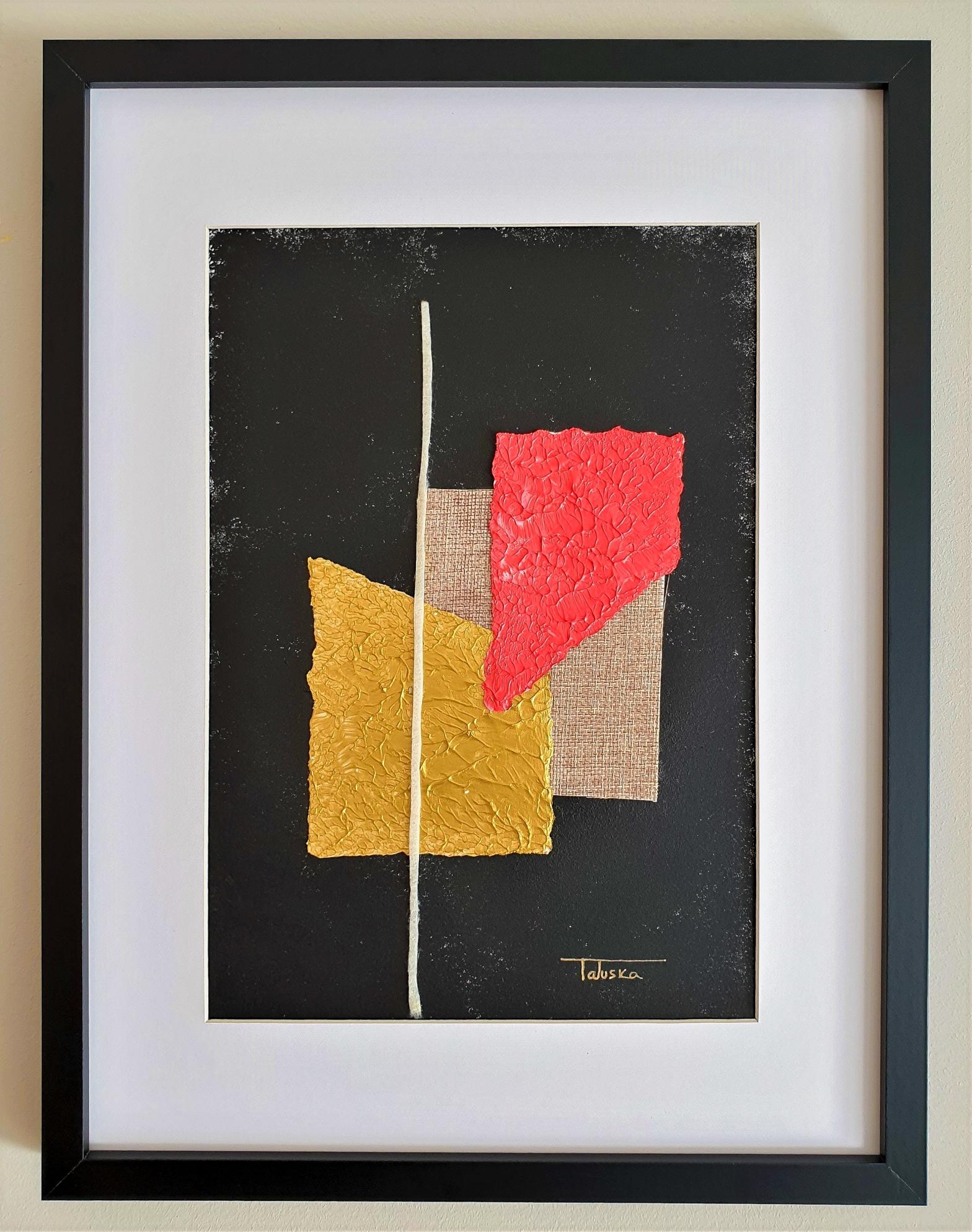 """Cuadro original de arte abstracto contemporáneo titulado """"Happiness"""", obra de la artista Tatuska"""