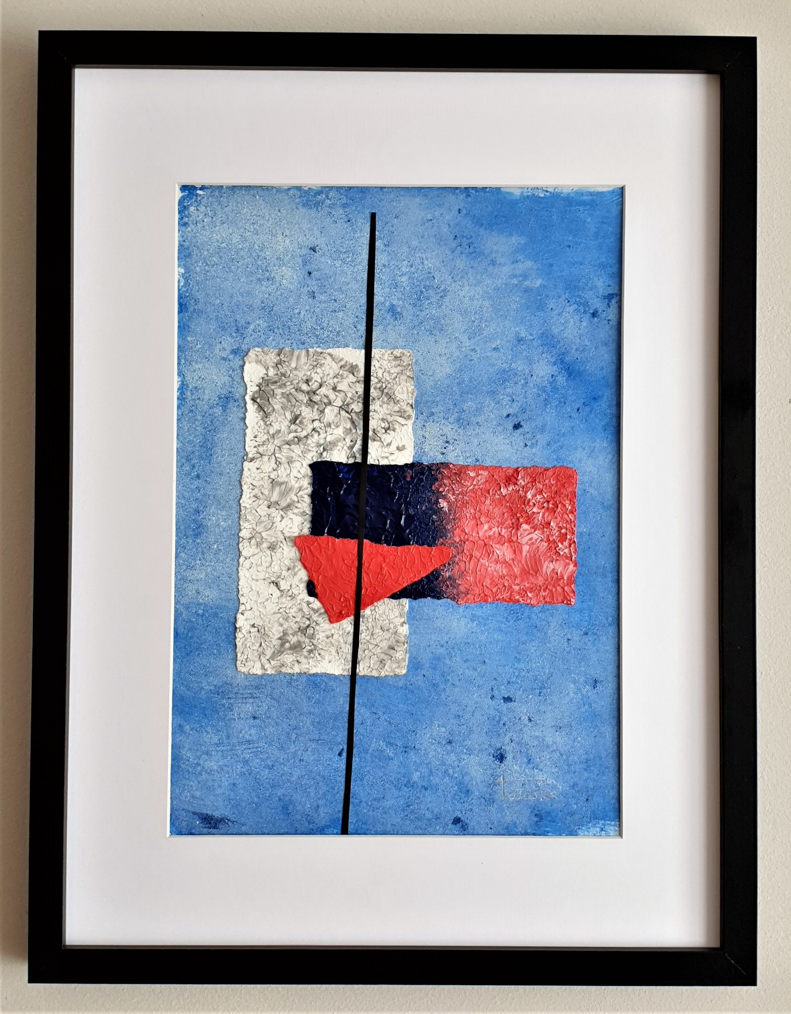 """Cuadro original de arte abstracto contemporáneo titulado """"Snow"""", obra de la artista Tatuska"""
