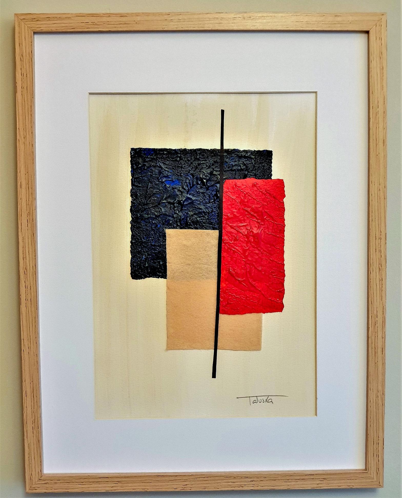 """Cuadro original de arte abstracto titulado """"Storm"""", obra de la artista de arte abstracto contemporáneo Tatuska"""