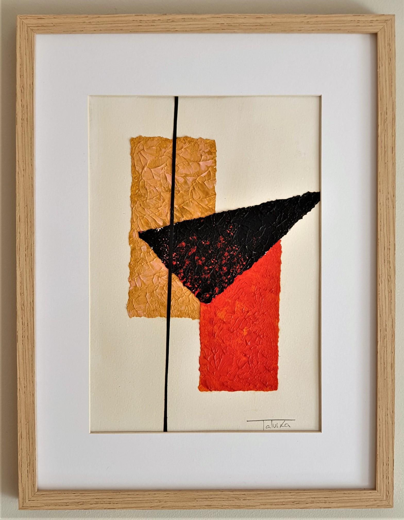 "Cuadro original de arte abstracto titulado ""Sunset"", obra de la artista de arte abstracto contemporáneo Tatuska"