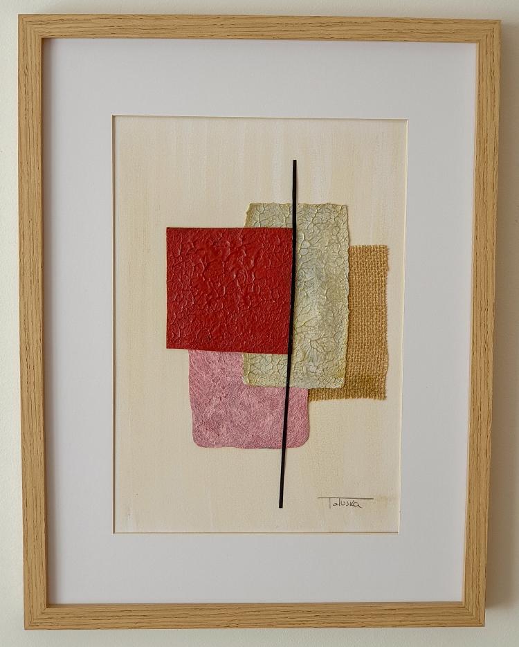 "Cuadro de arte abstracto titulado ""Textures"" de la artista Tatuska"