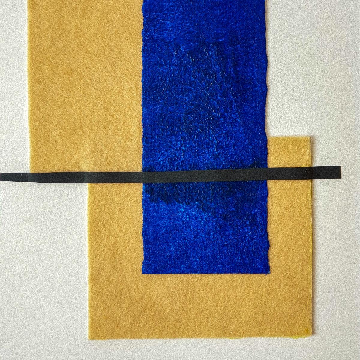 "Detalle del cuadro abstracto ""The island"", por Tatuska"