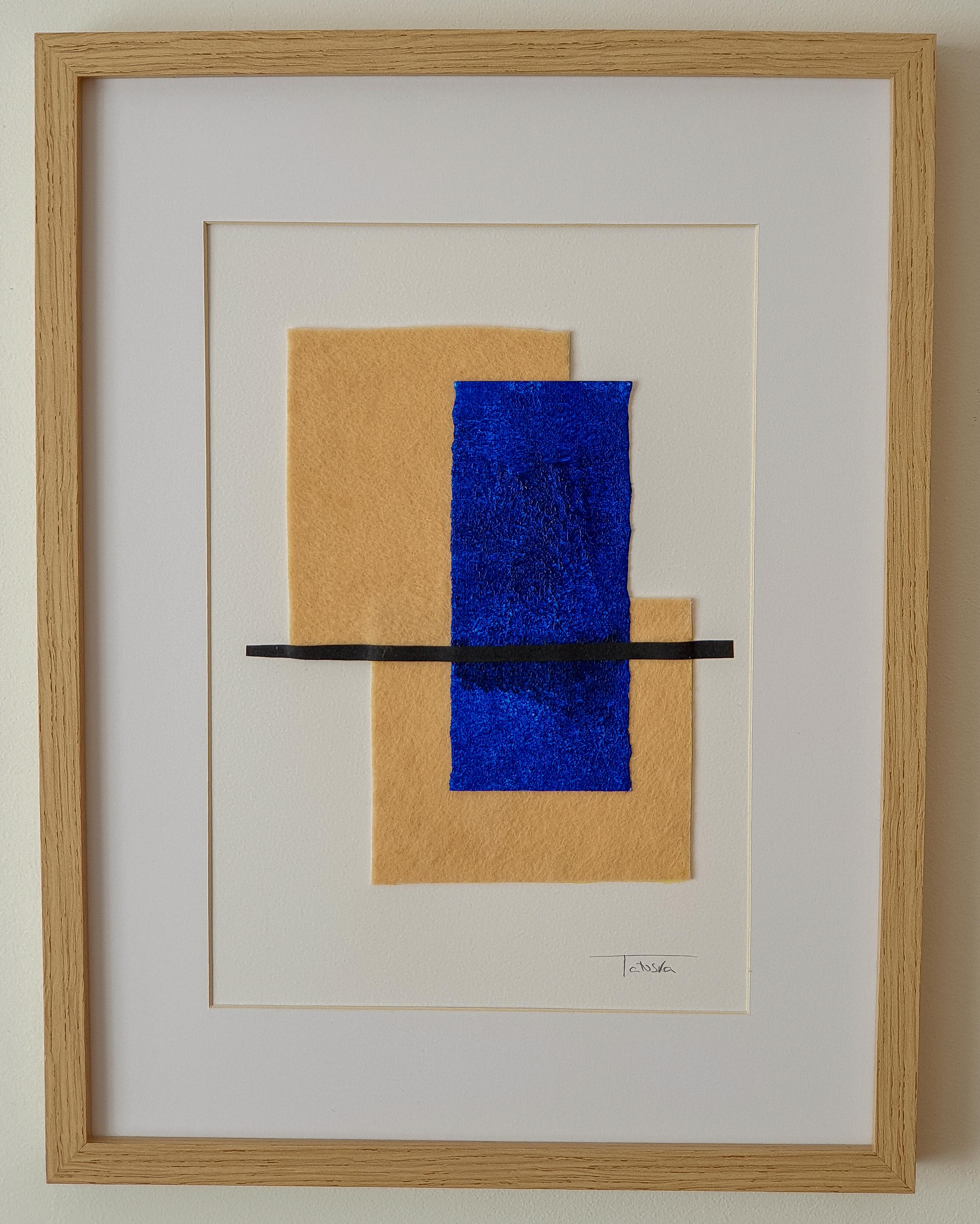 "Cuadro de arte abstracto titulado ""The island"" de la artista de arte abstracto contemporáneo Tatuska"