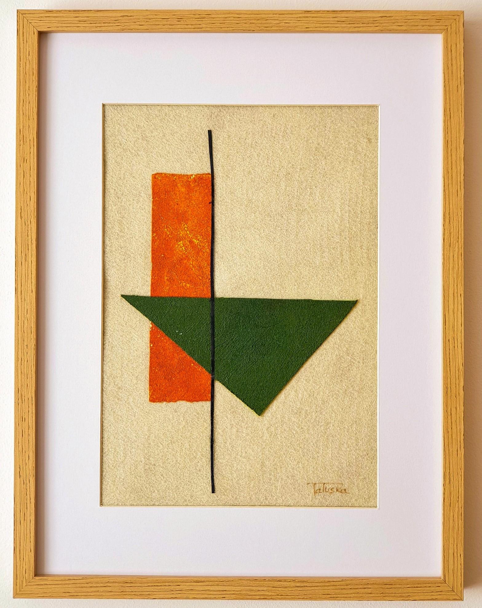 """Cuadro de arte abstracto titulado """"Volcano"""" de la artista de arte abstracto contemporáneo Tatuska"""