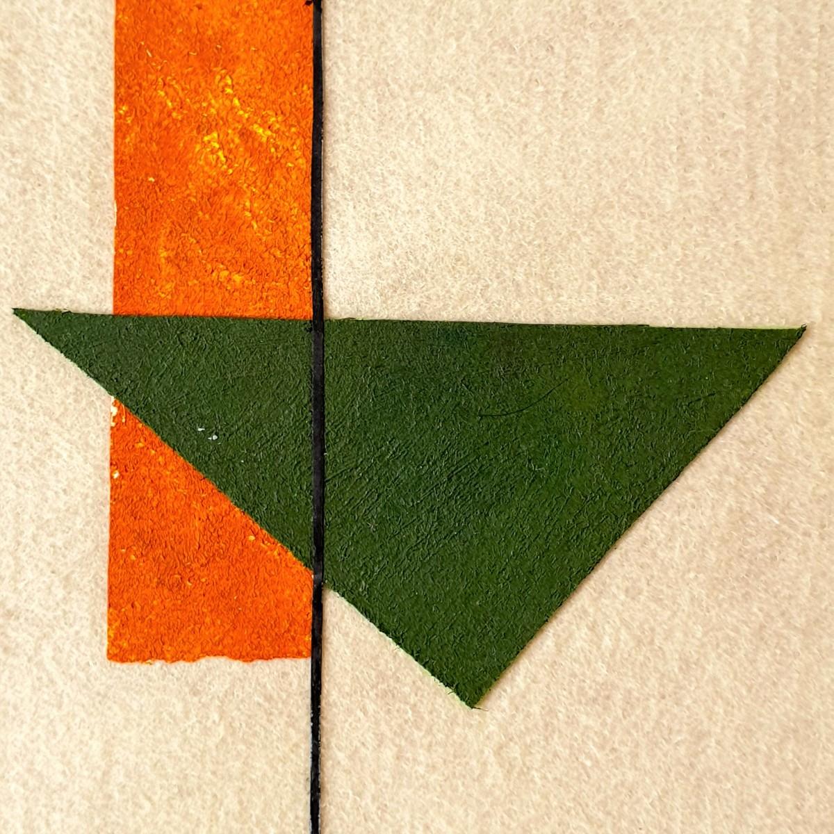 "Obra de arte abstracto titulada ""Volcano"", de la artista Tatuska. Inspirada en el volcán Arenal de Costa Rica."