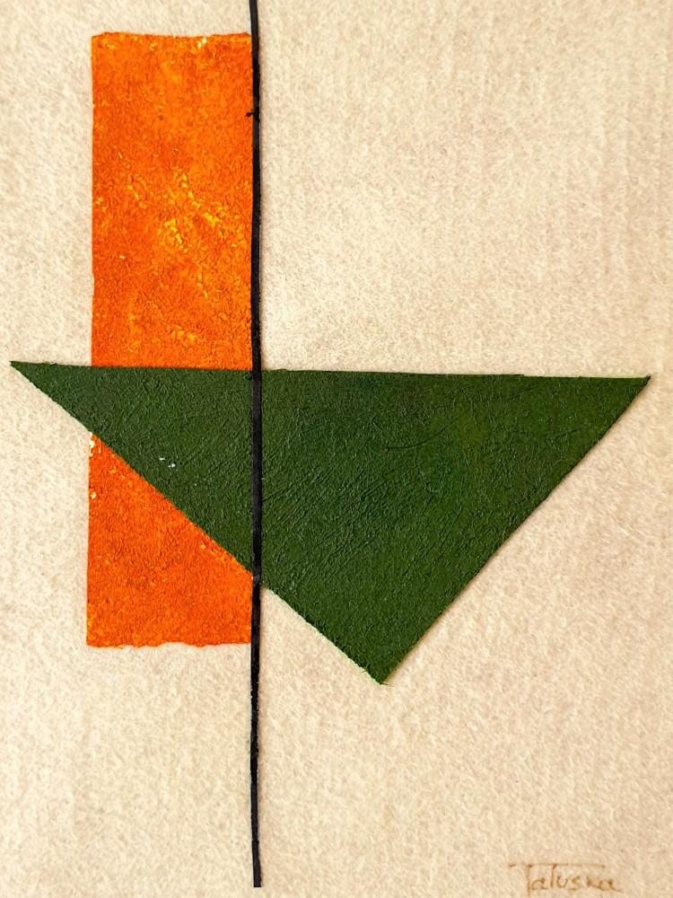 """cuadro de arte abstracto titulado """"Volcano"""", de la artista Tatuska"""