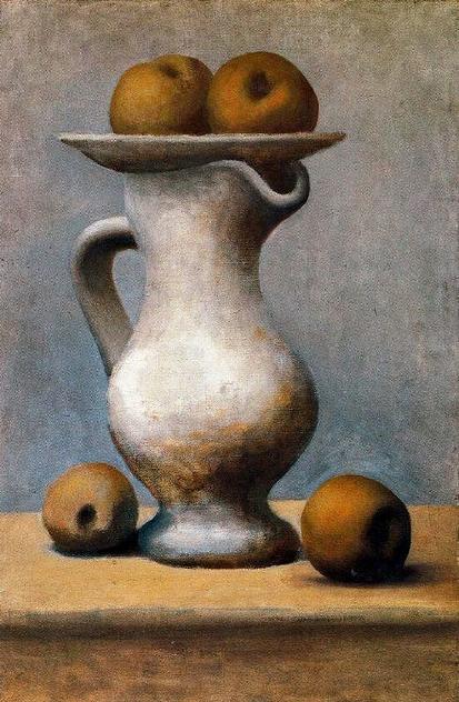Pablo Picasso. Bodegón con jarra y manzanas. 1919. Museo Picasso. París.