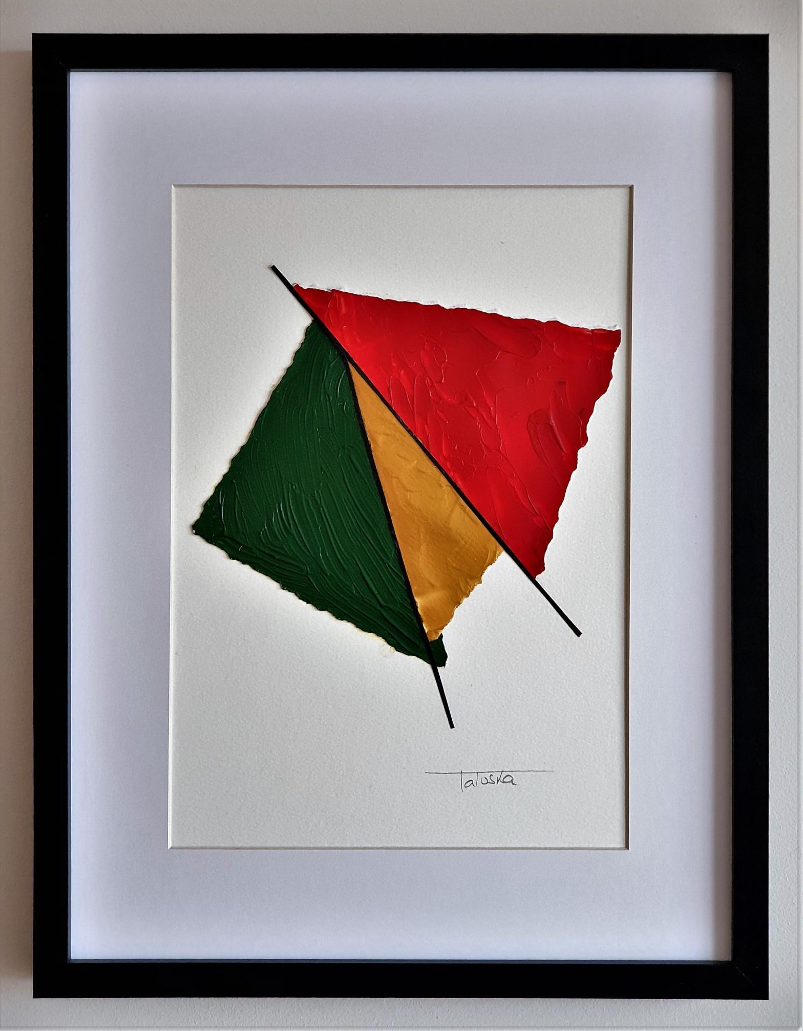 """Cuadro original de arte abstracto contemporáneo titulado """"Butterfly"""", obra de la artista Tatuska"""