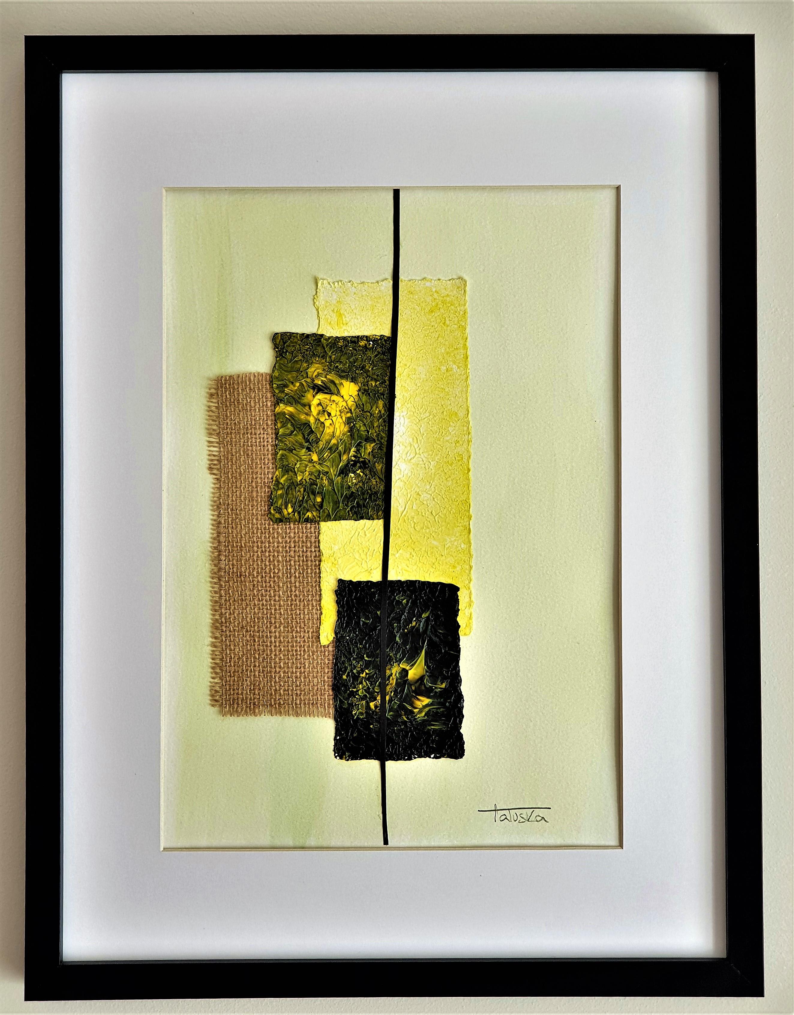 """Cuadro original de arte abstracto contemporáneo titulado """"Dreams"""", obra de la artista Tatuska"""