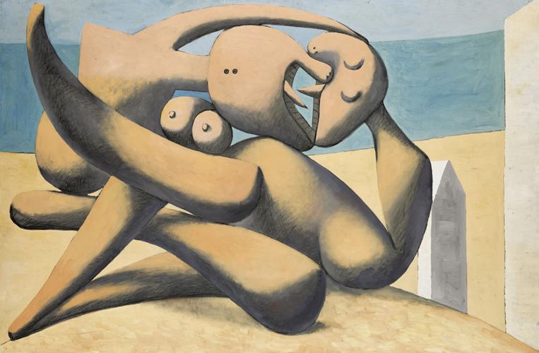 Pablo Picasso.Figuras a la orilla del mar. 1931. Museo Picasso. Málaga.