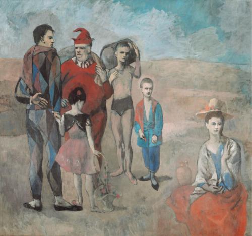 Pablo Picasso. La familia de saltimbanquis. 1905. Chester Dale Collection. National Gallery. Washington.