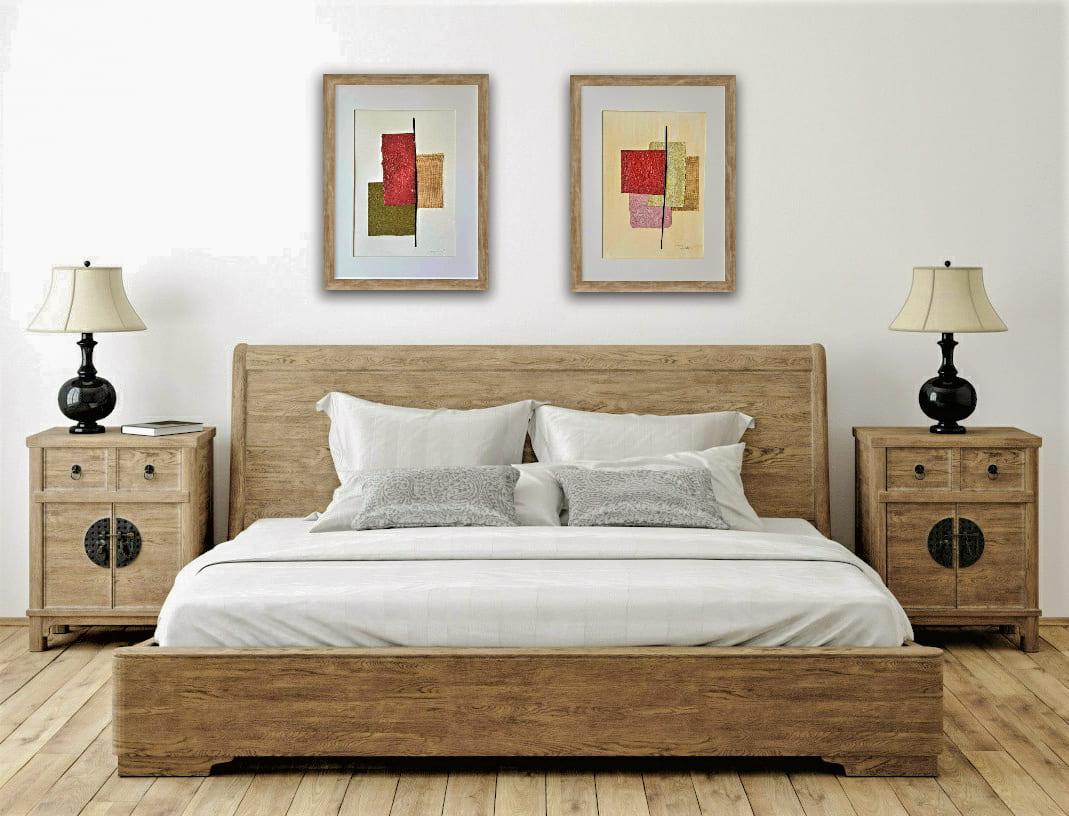 Aquí encontrarás cuadros abstractos para dormitorio con texturas modernos decorativos originales