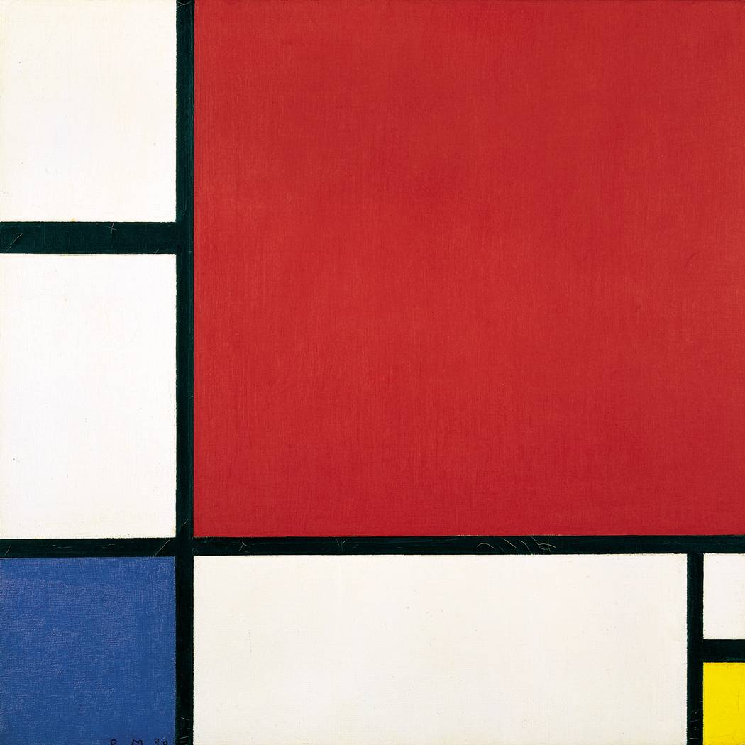 Mondrian Composicion-Rojo-Azul-Amarillo