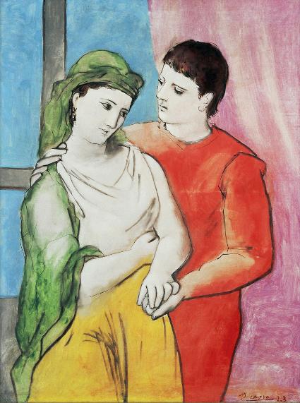 Los Amantes. 1923. Instituto de Arte de Chicago.