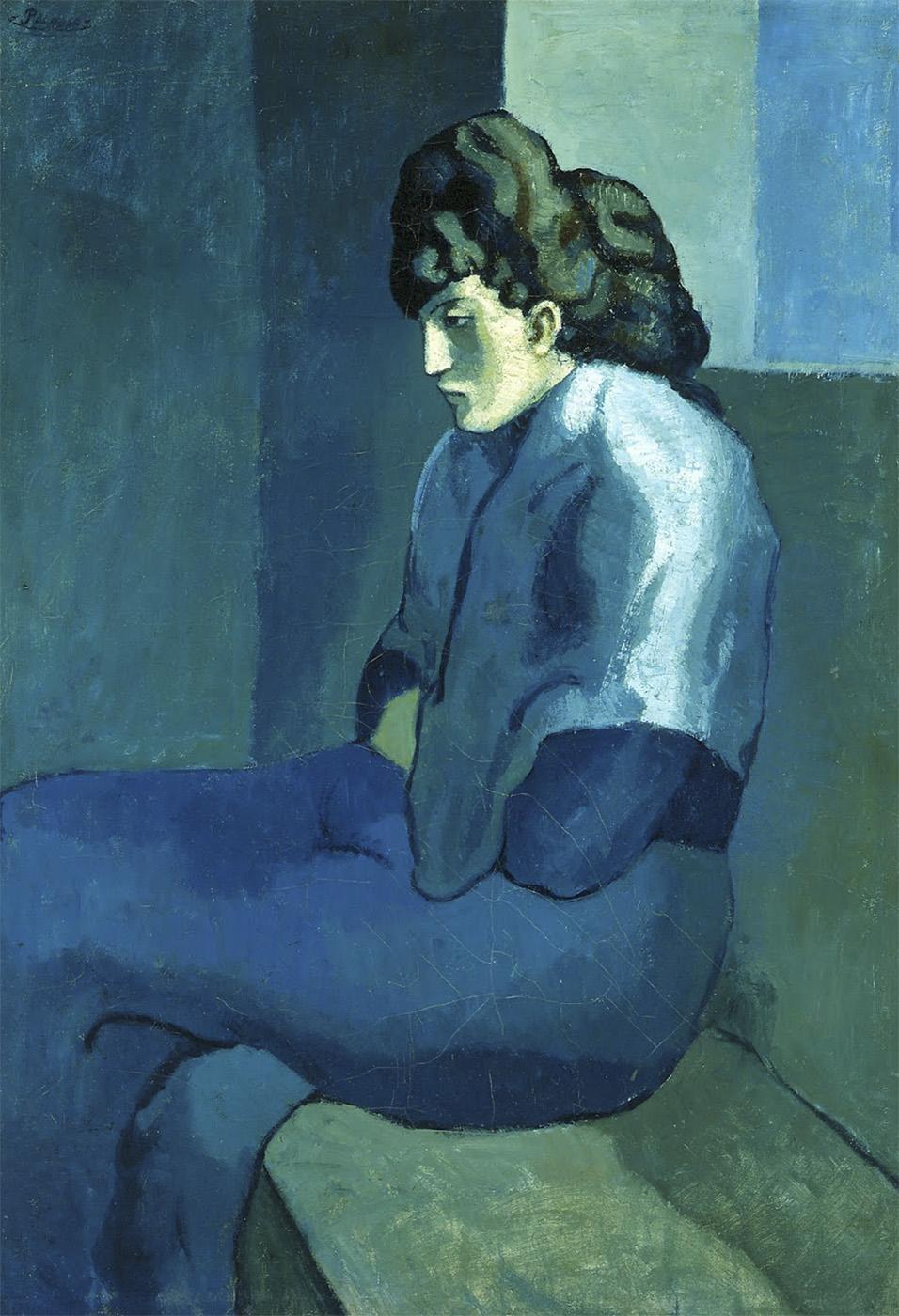 Pablo Picasso. Mujer melancólica. 1902. Detroit Institute of Arts. EEUU.