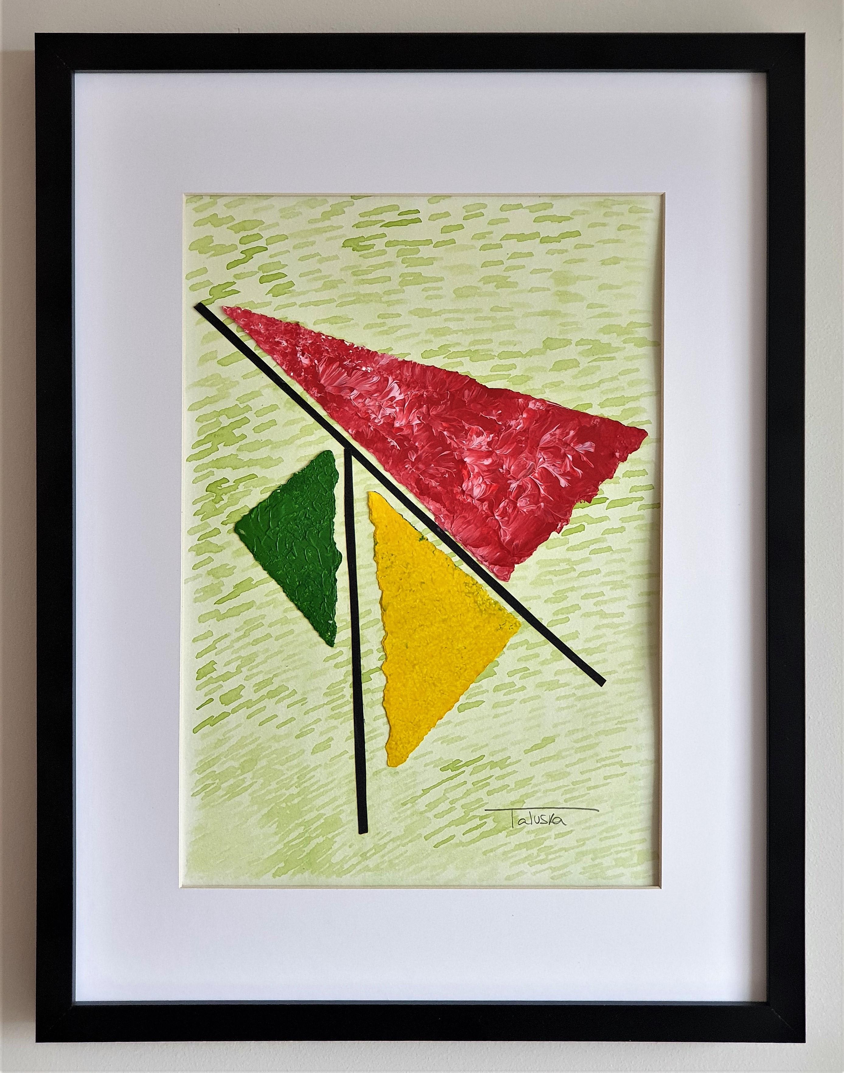 """Cuadro original de arte abstracto contemporáneo titulado """"Spring"""", obra de la artista Tatuska"""