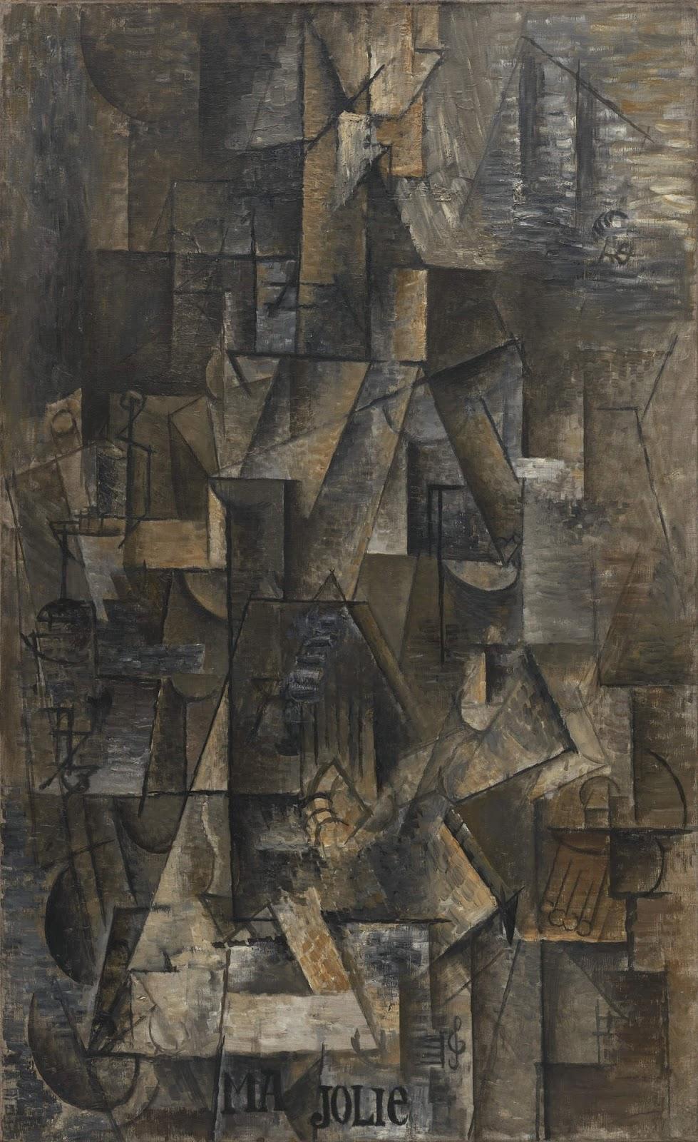 Pablo Picasso. Ma Jolie. 1911-1912. MoMA. Nueva York.