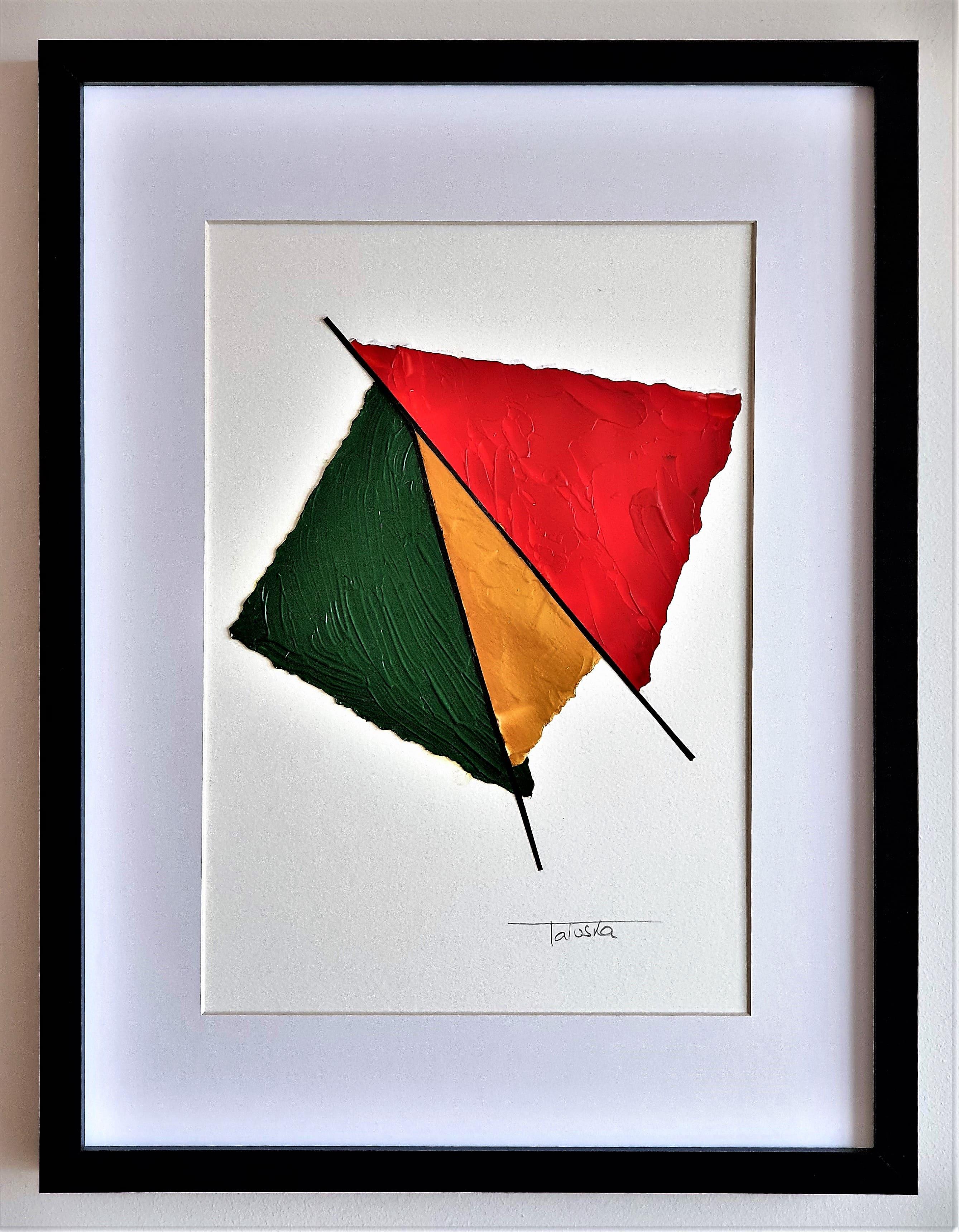 "Cuadro original de arte abstracto moderno decorativo con texturas original contemporáneo para sala, salón, dormitorio, comedor 30x40 cm.  titulado ""Butterfly"", obra de la artista de arte contemporáneo Tatuska"
