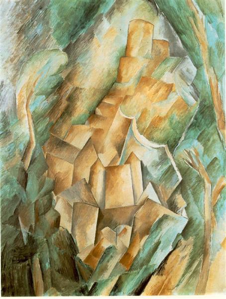 Castle at La Roche Guyon. Georges Braque, 1909.
