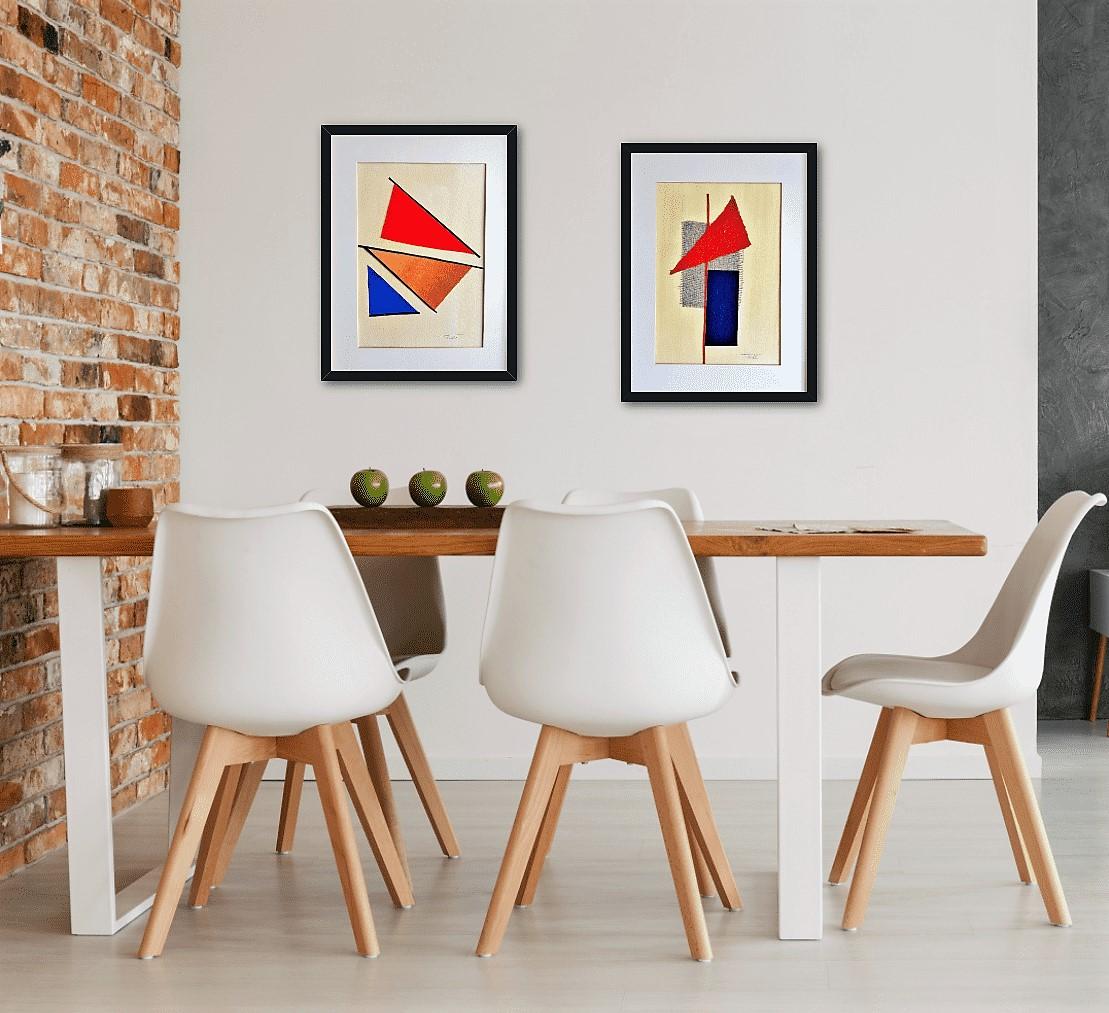 Aquí encontrarás cuadros abstractos para comedor con texturas modernos decorativos originales