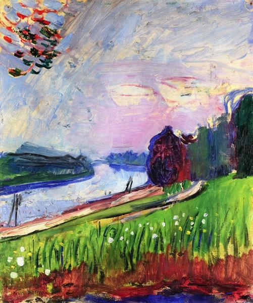 Copse of the Banks of the Garonne. Henry Matisse, 1900.